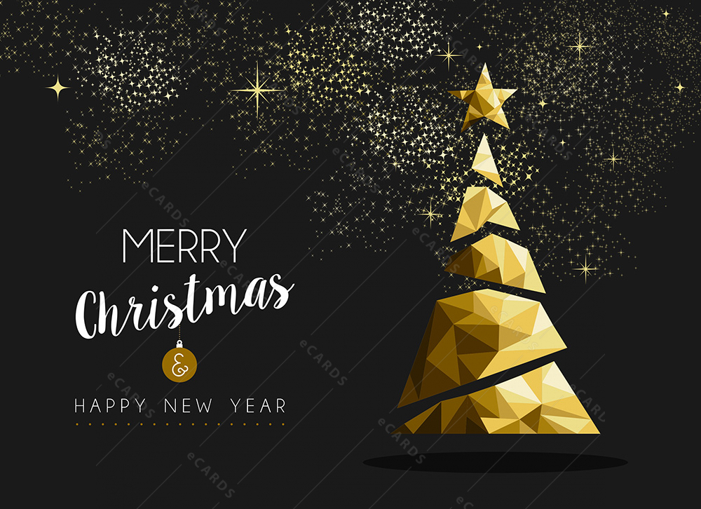 merry christmas happy new year golden triangle greeting card gc0119 greeting ecards merry christmas happy new year golden triangle greeting card gc0119